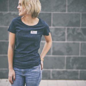 Damen Brøndby T-Shirt - dunkelblau meliert