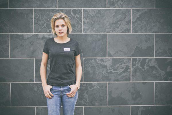 Damen Brøndby T-Shirt - dunkelgrau meliert