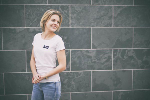 Damen Brøndby T-Shirt - weiß meliert