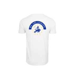Herren WE ARE EUROPE Shirt - weiß