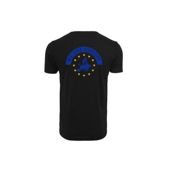 Herren WE ARE EUROPE Shirt - schwarz