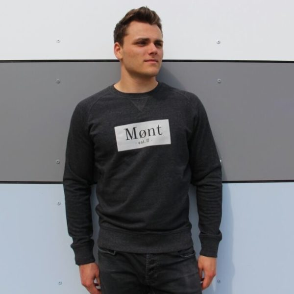 Herren Brøndby Sweatshirt - dunkelgrau meliert