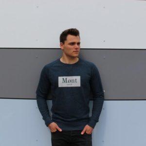 Herren Brøndby Sweatshirt - dunkelblau meliert