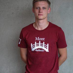 Herren Øresund T-Shirt - weinrot