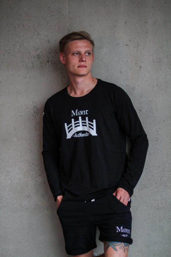 Herren Øresund Longsleeve - schwarz