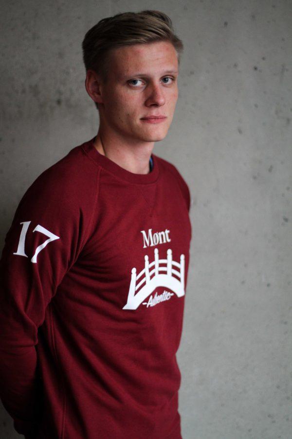 Herren Øresund Sweatshirt - weinrot