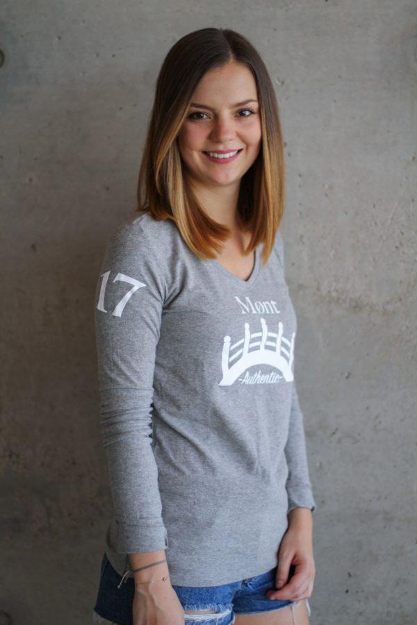 Damen Øresund Longsleeve - hellgrau
