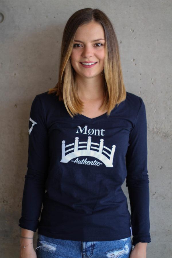 Damen Øresund Longsleeve - dunkelblau