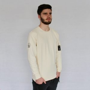 Herren Västerås Interlock Sweater – beige