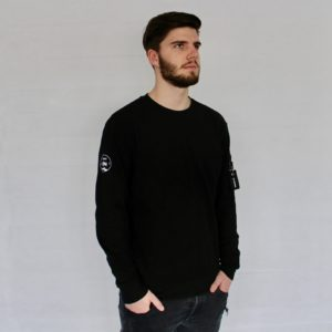 Herren Västerås Interlock Sweater – schwarz