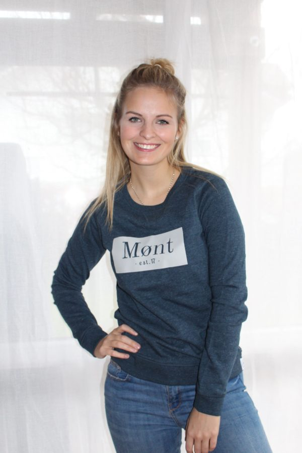 Damen Brøndby Sweatshirt - dunkelblau meliert