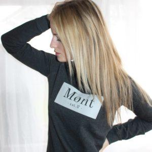 Damen Brøndby Sweatshirt - dunkelgrau meliert