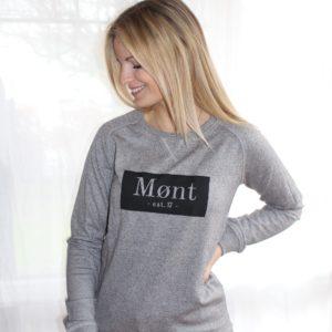 Damen Brøndby Sweatshirt - hellgrau meliert