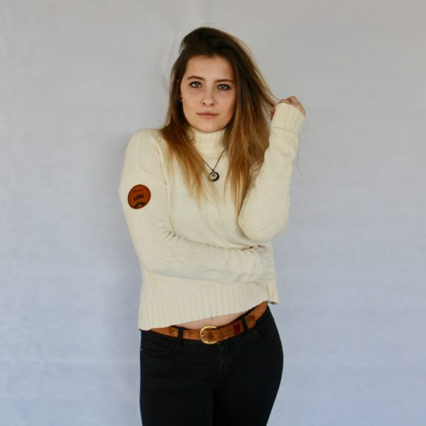 Damen Västerås Turtleneck Sweater – beige