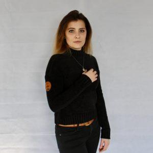 Damen Västerås Turtleneck Sweater – schwarz